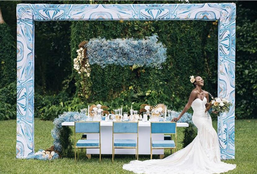 Blue themed wedding by South Florida wedding planner KeAira Chantell