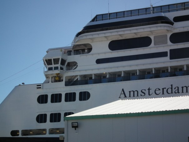 The Holland America Amsterdam in port in Spain. THE PRIVATEER CLAUSE photo