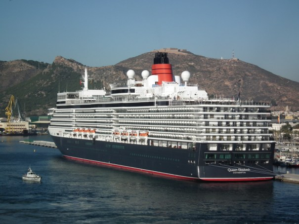 Queen Elizabeth tied up in port at Cartagena Spain. THE PRIVATEER CLAUSE photo