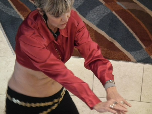 A belly dance instructor on Celebrity Equinox. THE PRIVATEER CLAUSE photo