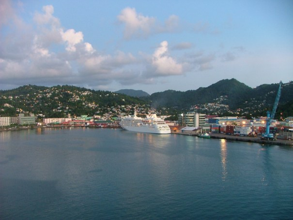 St. Lucia's harbor. THE PRIVATEER CLAUSE photo