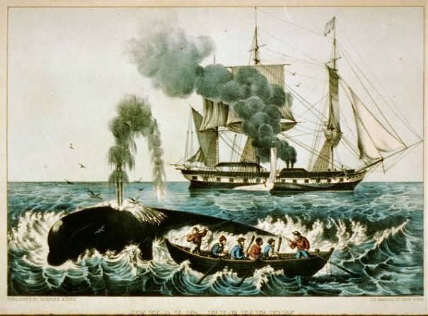 Attacking a right whale. Currier & Ives 1860 LoC.