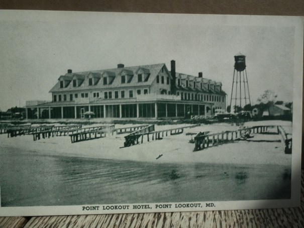 Point Lookout Hotel on the Chesapeake Bay. Courtesy of Mayor J. Harry Norris Collection.