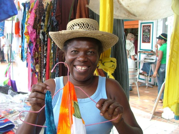 While the pickpockets might be hard at work so are the friendly vendors in the market at St. Martin, on the French side of the island. THE PRIVATEER CLAUSE photo