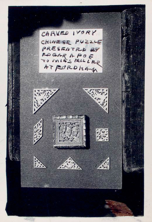 Chinese puzzle owned by Edgar Allan Poe