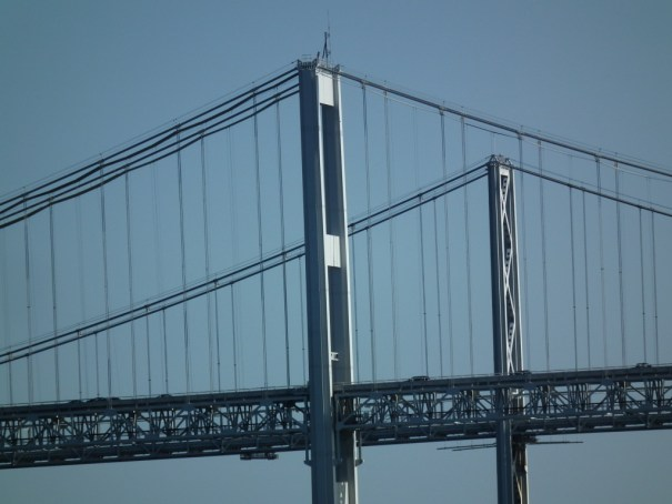 The Chesapeake Bay Bridge consists of two spans, one with two lanes that opened in 1952 and the second span that followed thirty years later. THE PRIVATEER CLAUSE photo