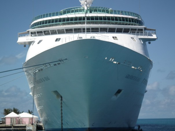 The Grandeur of The Seas in port in Bermuda. THE PRIVATEER CLAUSE photo