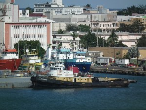 The busy harbor at San Juan, Puerto Rico. THE PRIVATEER CLAUSE photo
