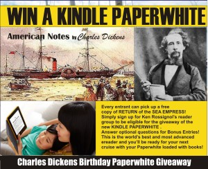Kindle Paperwhite promo for Dicken
