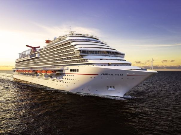 New Carnival Vista sails for the first time in April 2016.  Carnival photo.