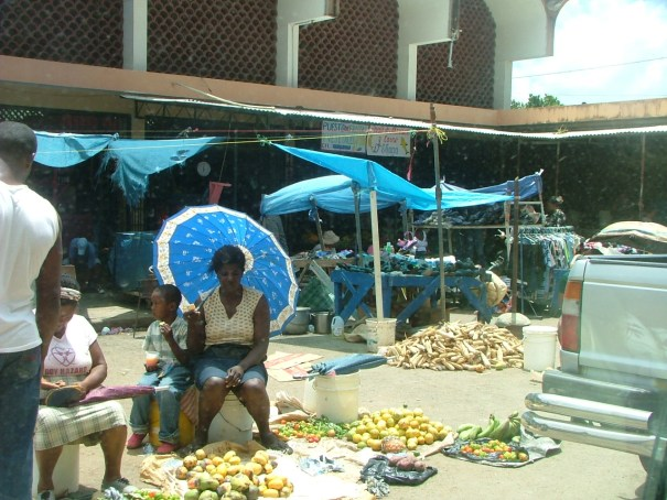 Samana market place in the Dominican Republic. THE PRIVATEER CLAUSE photo