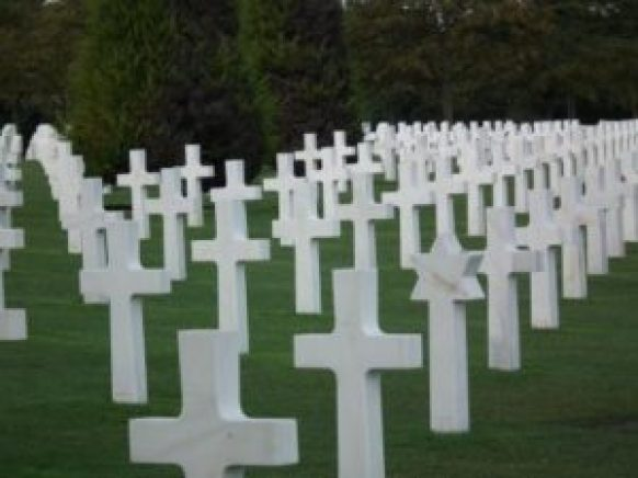 Normandy cemetery in France where Americans killed in the invasion on D-Day were buried. THE PRIVATEER CLAUSE photo