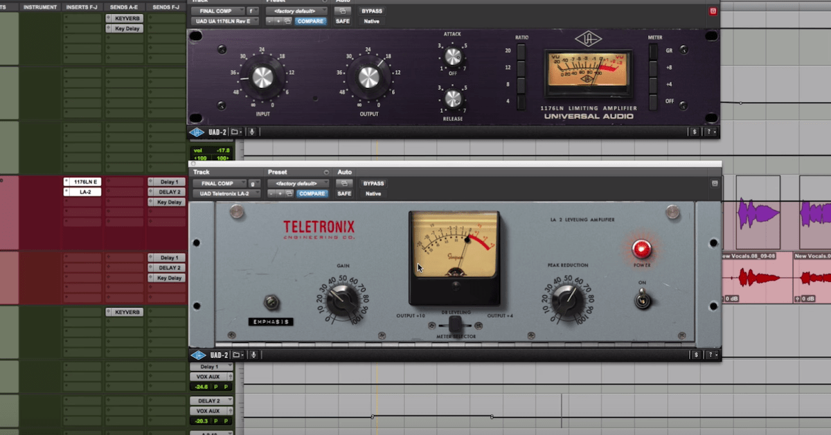 Compression Basics: 1176 into LA-2A on Vocals + CL 1B on Keyboards — Pro Audio Files