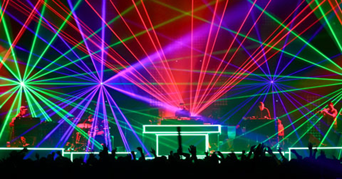 stage lighting for a live concert