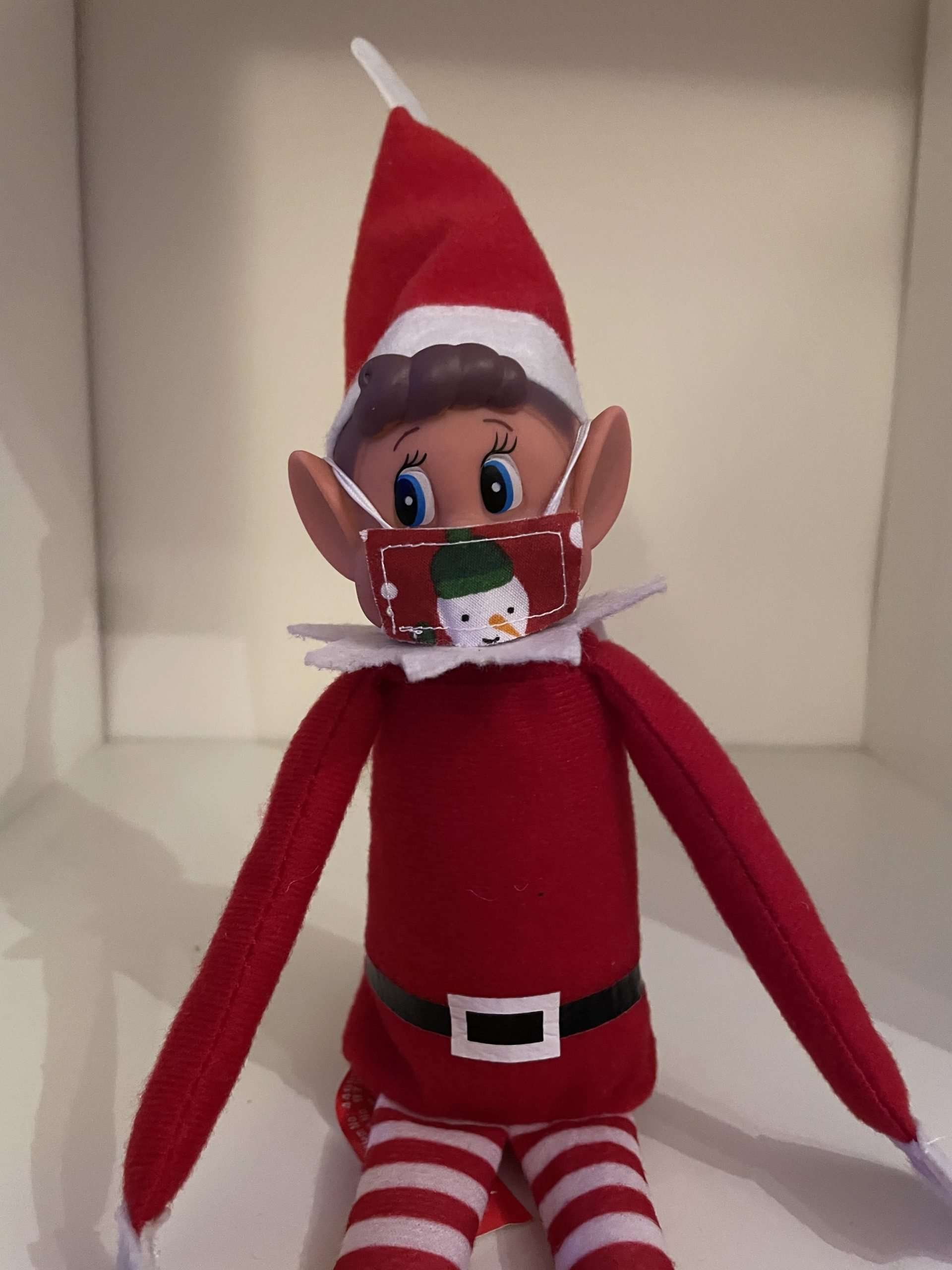 Elf on the Shelf Ideas - Elvis's face mask
