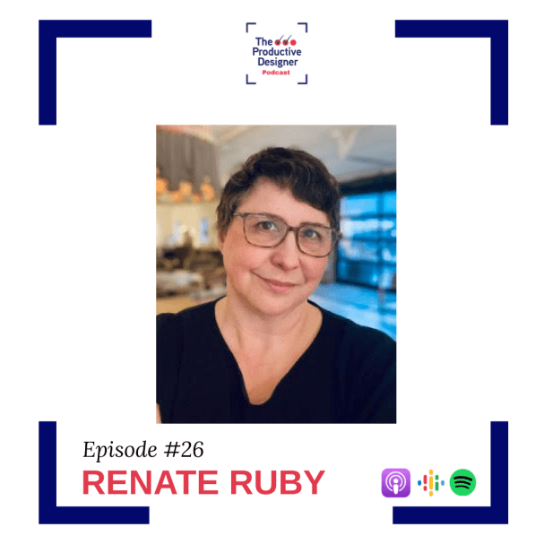 Podcast guest Renate Ruby in the episode Educating your client on the economic value of furniture