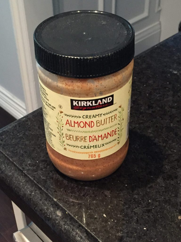 Almond butter - one of our best healthy buys at Costco