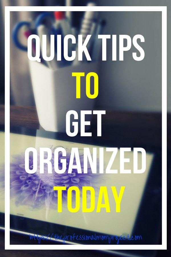 I struggle daily with paper clutter organization but here are some quick tips that make dealing with all the paper a bit easier. To learn more home organization and paper organization tips see The Professional Mom Project
