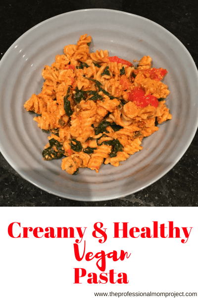 Creamy Healthy Vegan Pasta