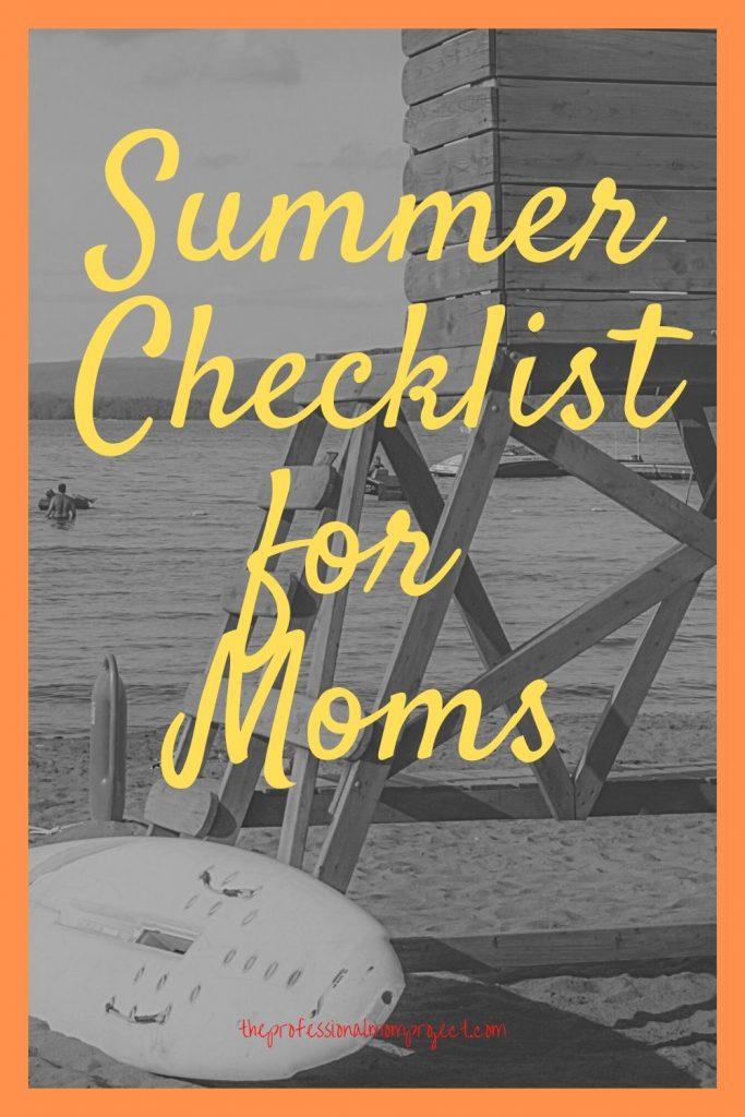 summer checklist for moms
