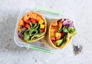 Vegetarian tortilla wraps another yummy nut free vegetarian lunch box idea