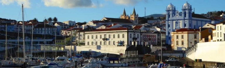 angra harbour azores holiday