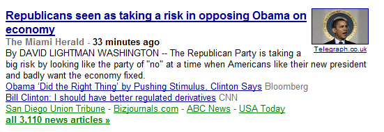 Obama Christ on Google News