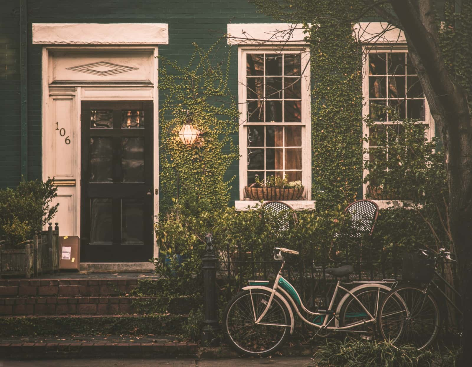 Bicycle outside house