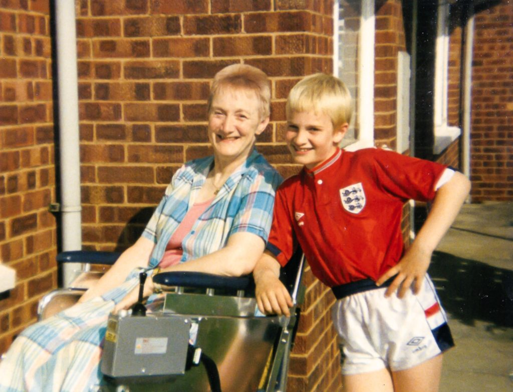 Alex Shaw with his mother