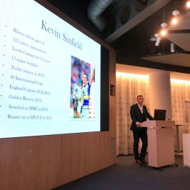 Kevin Sinfield speaking at Progeny's Annual Conference 2018