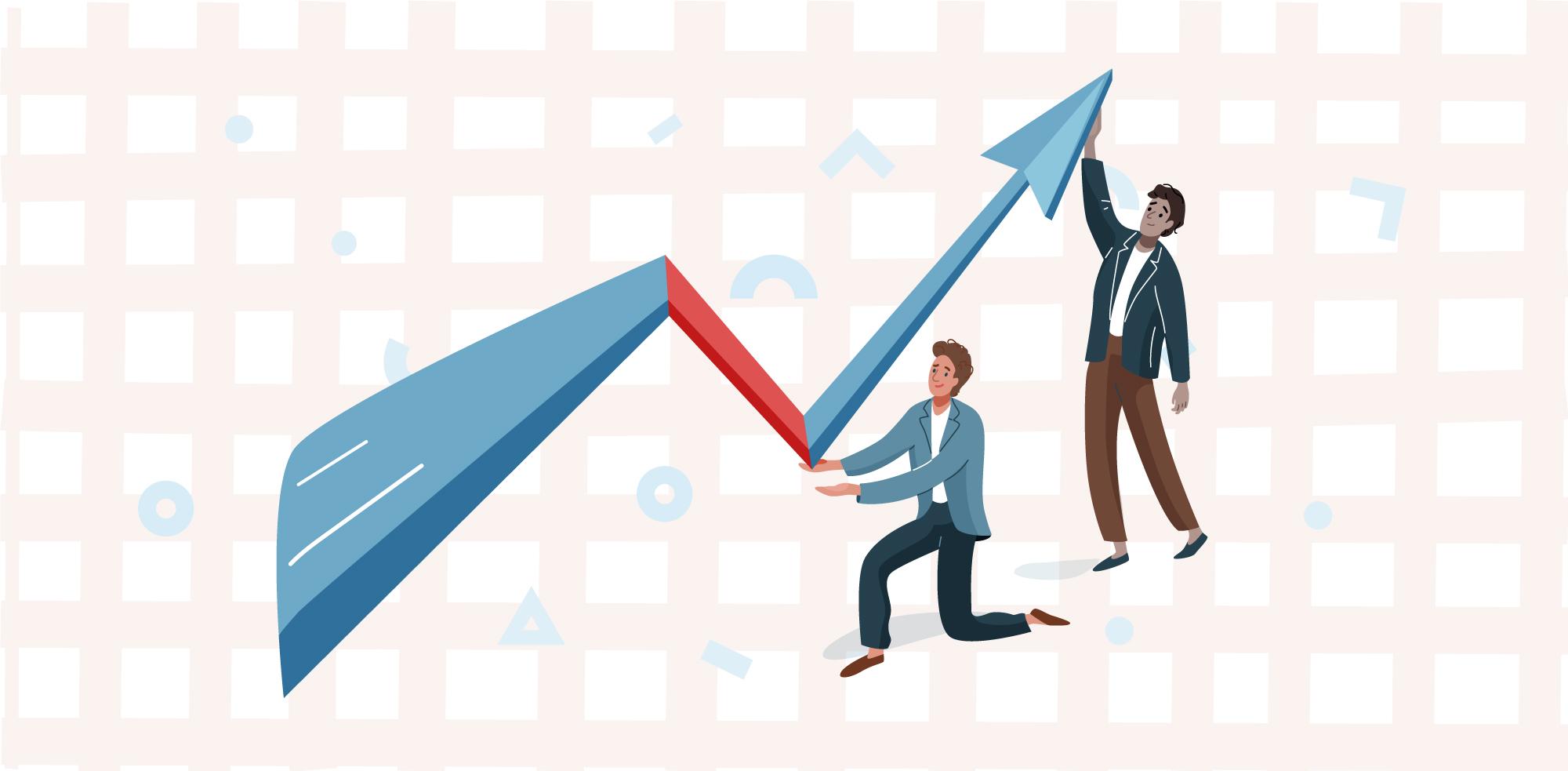 Illustration of market slump