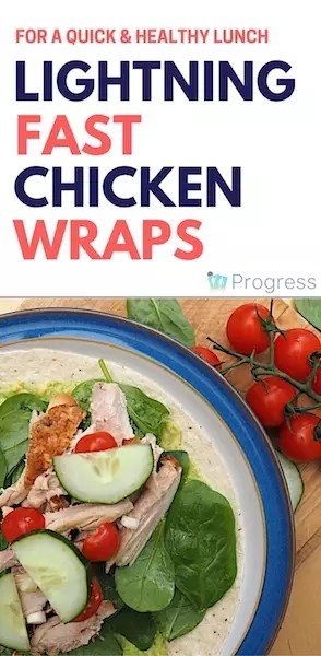 These cold chicken wraps are super healthy, lightning fast to make and perfect for using up leftovers