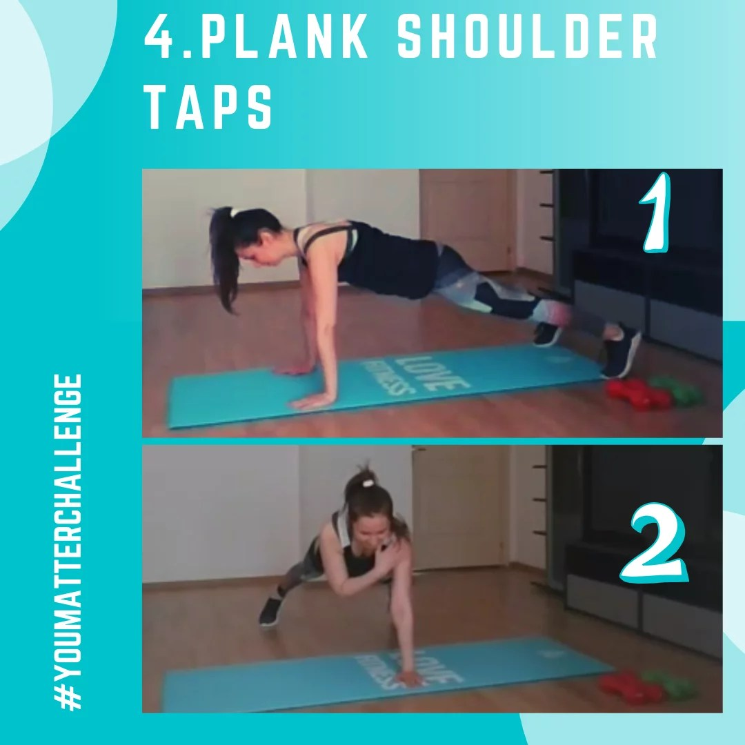 Full Body Workout Exercise 4 - Plan Shoulder Taps