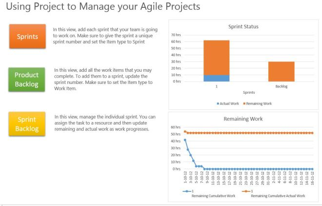Agile project management template