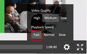 Playback speed
