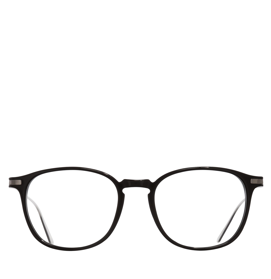 Cutler and Gross Round-Frame Black Acetate Optical Glasses
