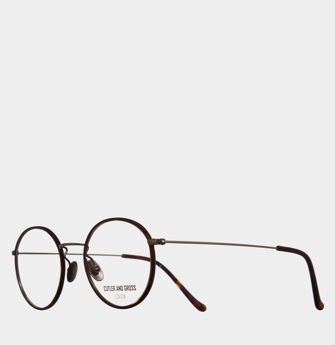 Cutler and Gross Retro Round-Frame Gunmetal Optical Glasses