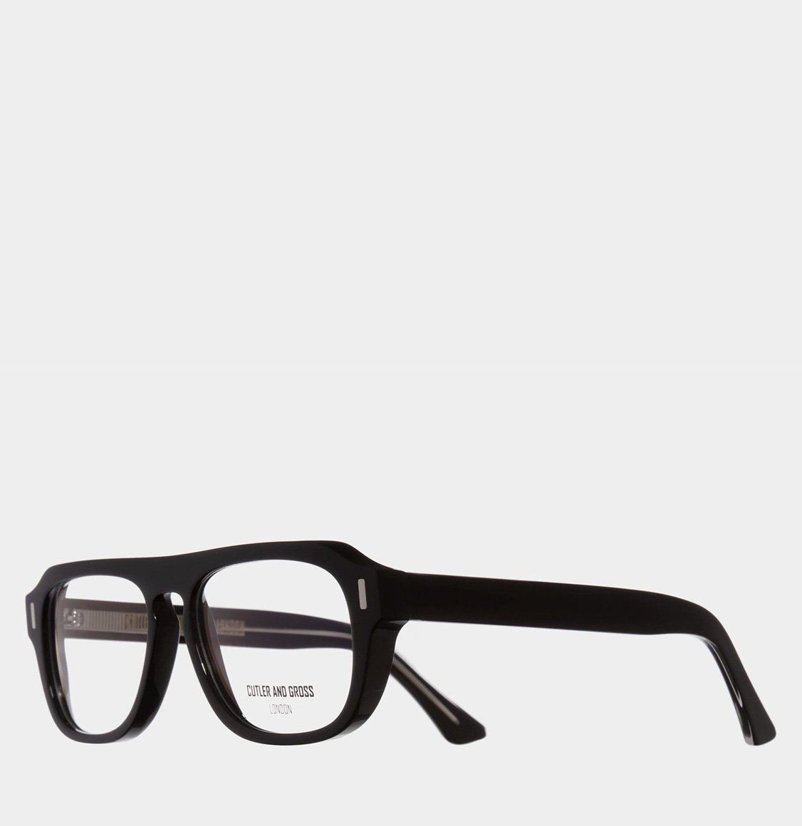 Cutler and Gross Square-Frame Black Acetate Optical Glasses