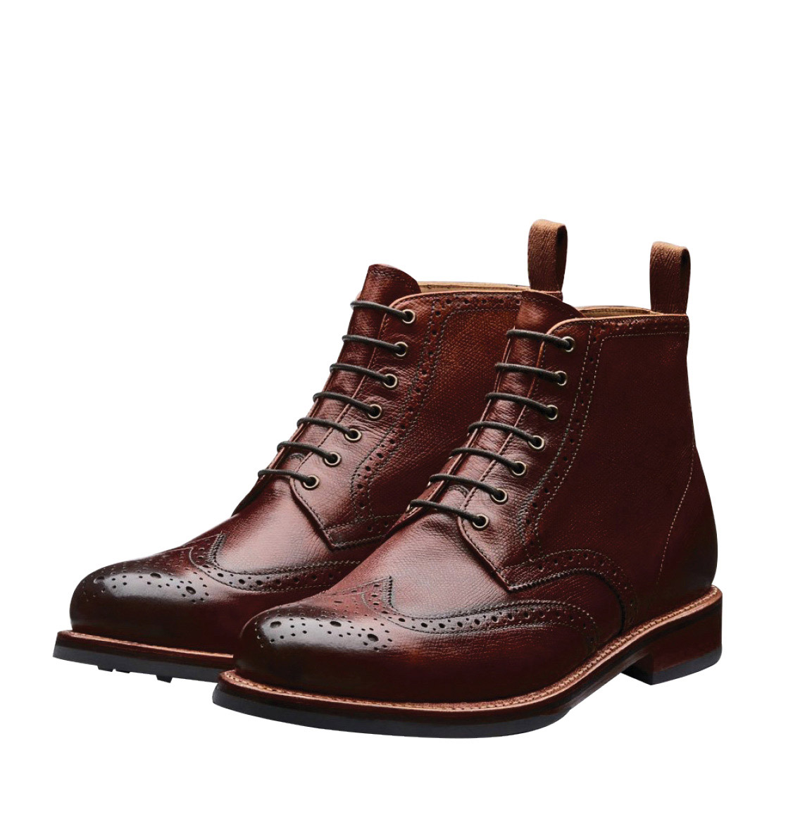 Grenson Sharp Brown Leather Brogue Boot