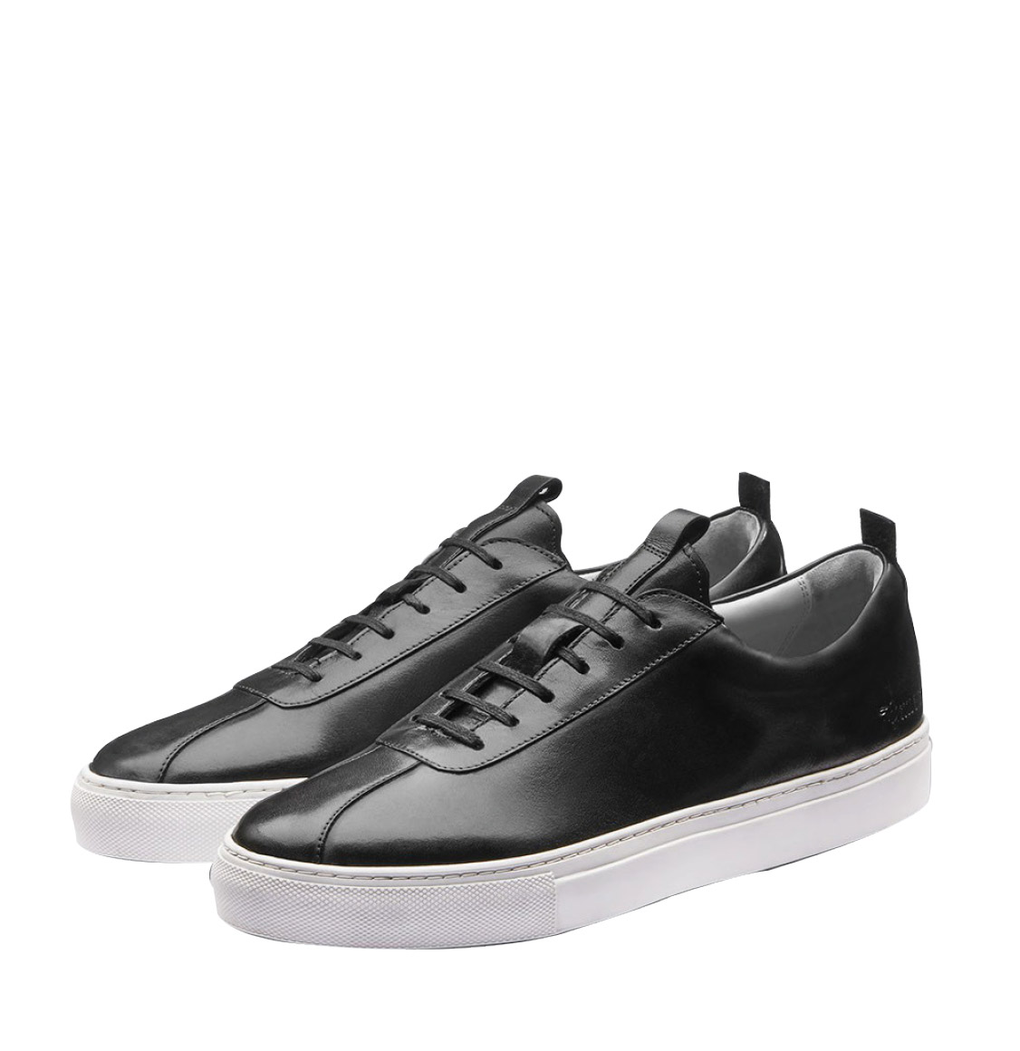 Grenson Black Leather Oxford Sneaker