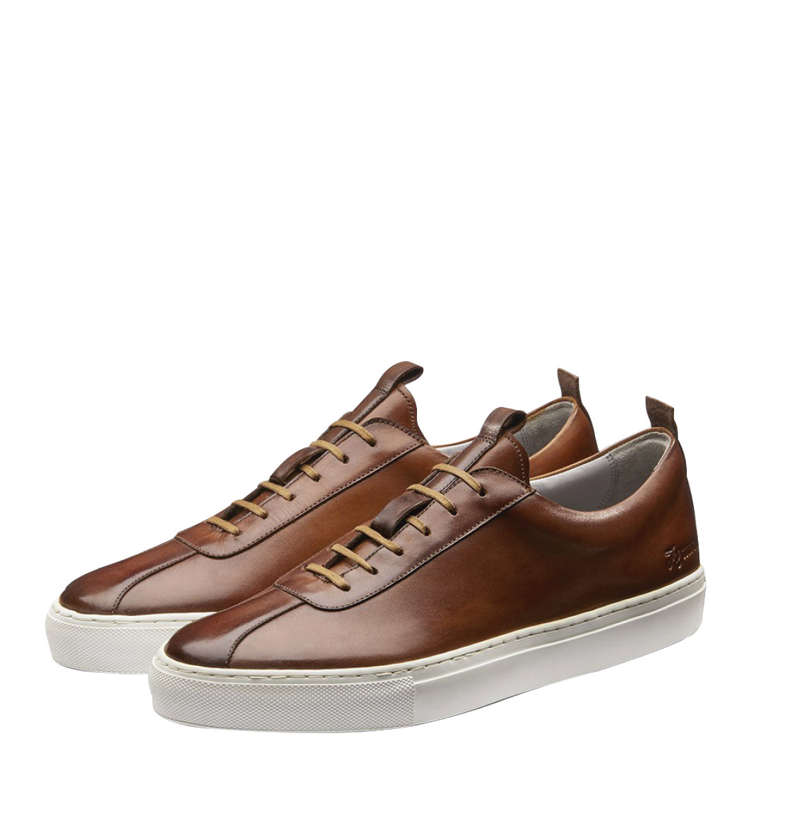 Grenson Tan Leather Oxford Sneaker