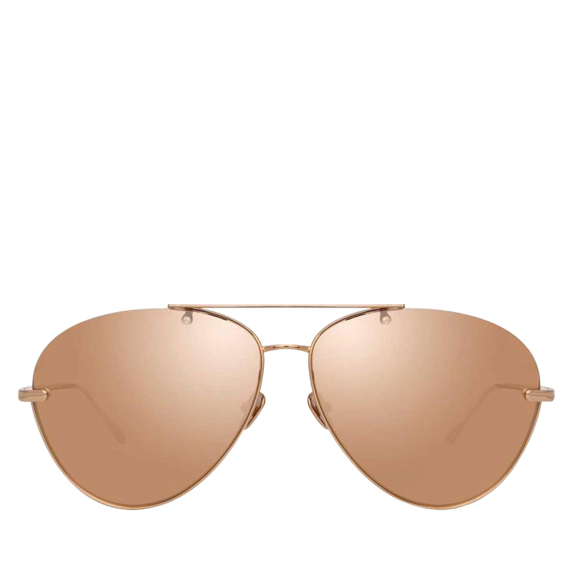 Linda Farrow 859 C3 Aviator Rose Gold-Plated Titanium Frames 62 Γυαλιά Ηλίου