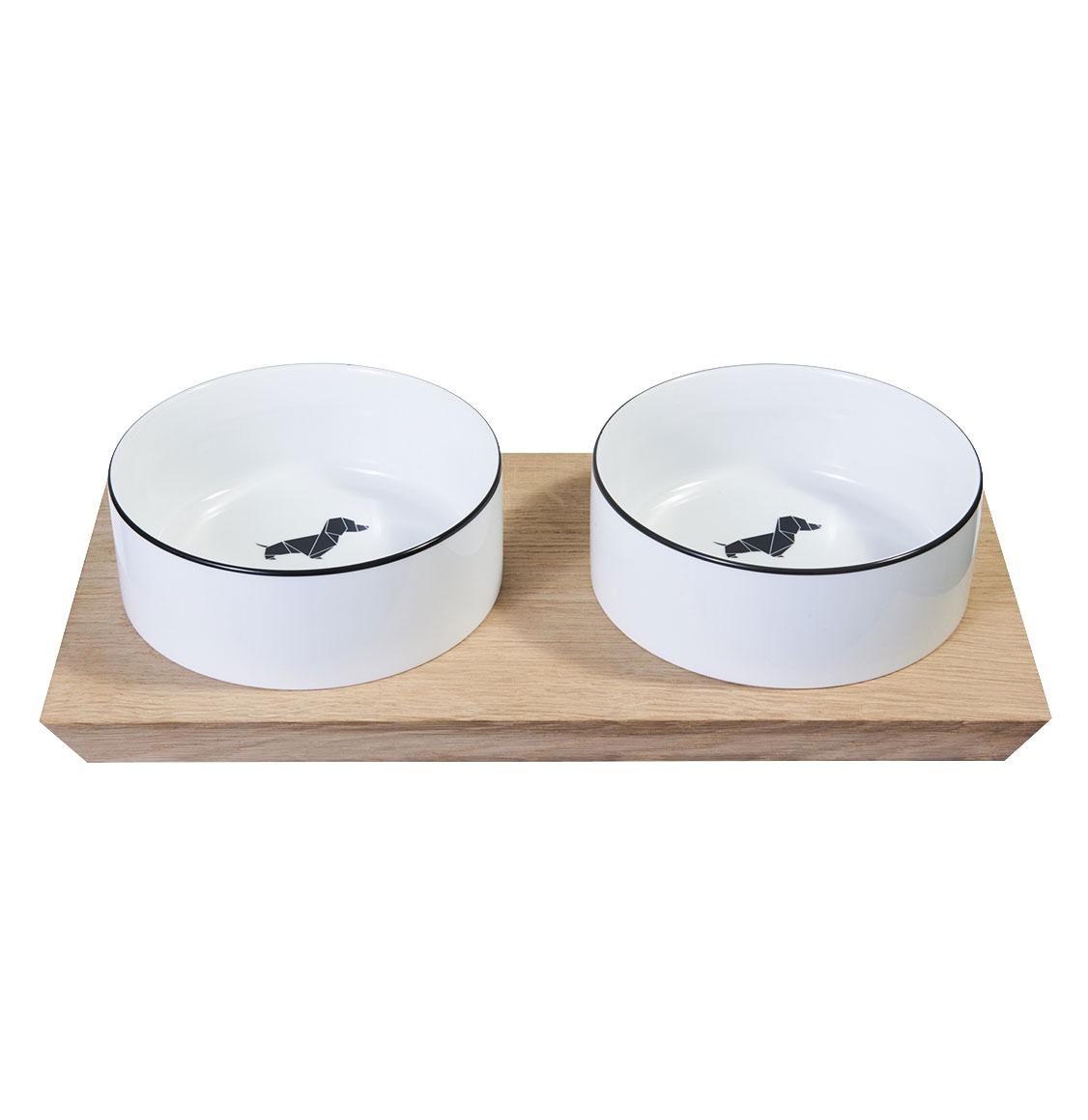 Poldo Dog Couture Double Bowls Set