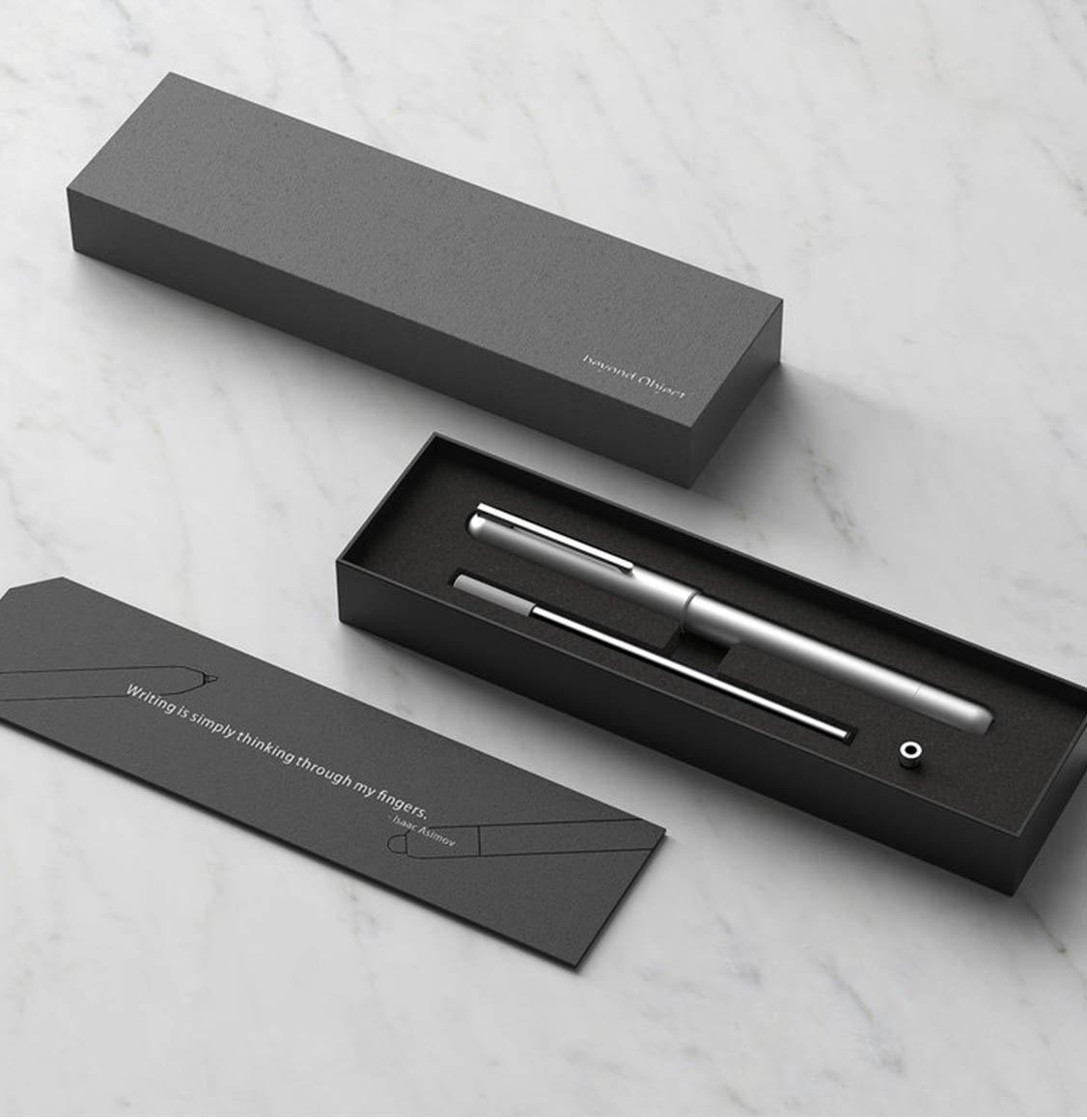 Beyond Object Dueto Dual Pen Silver