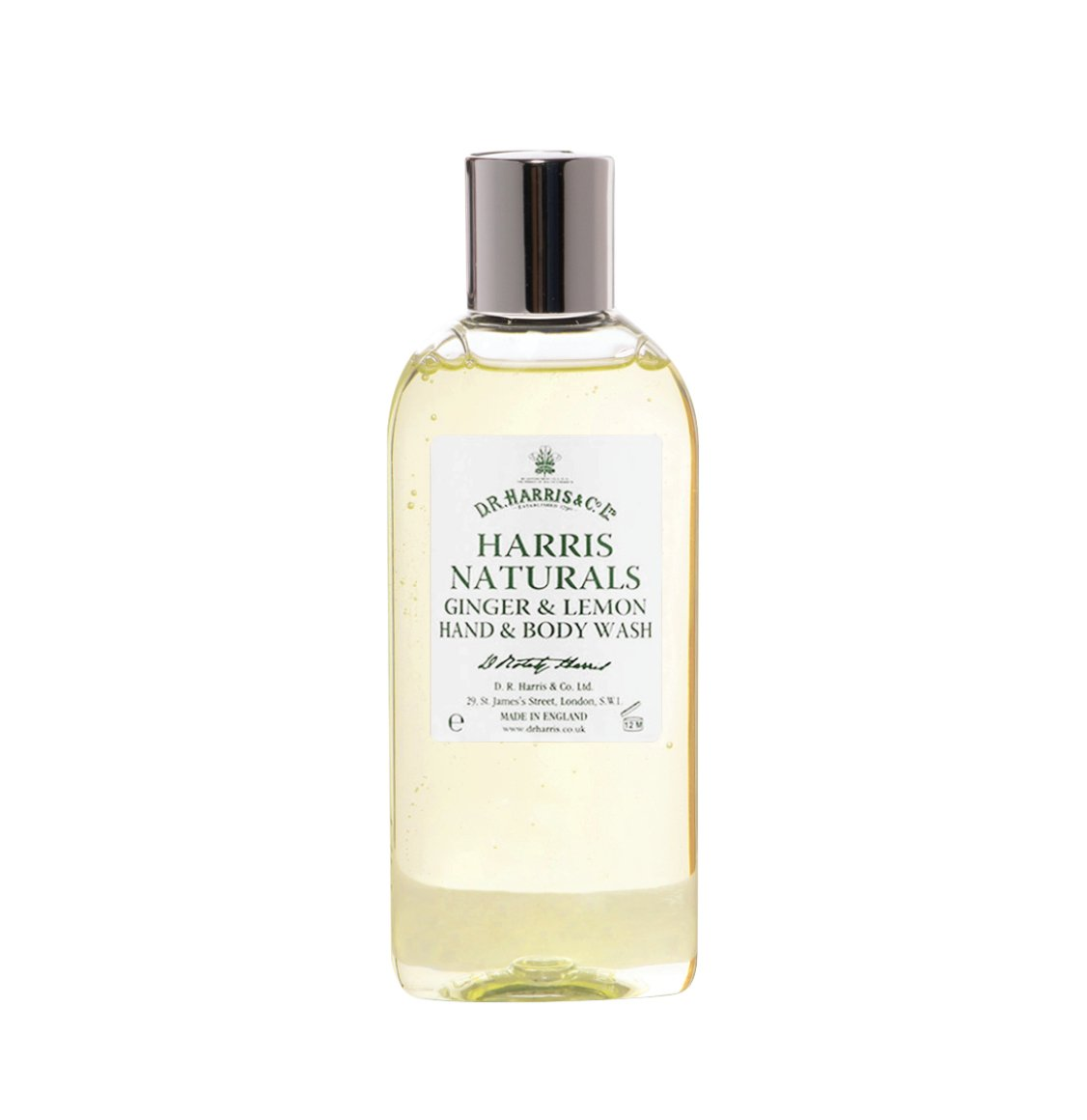 D R Harris Naturals Ginger and Lemon Body Wash 200ml