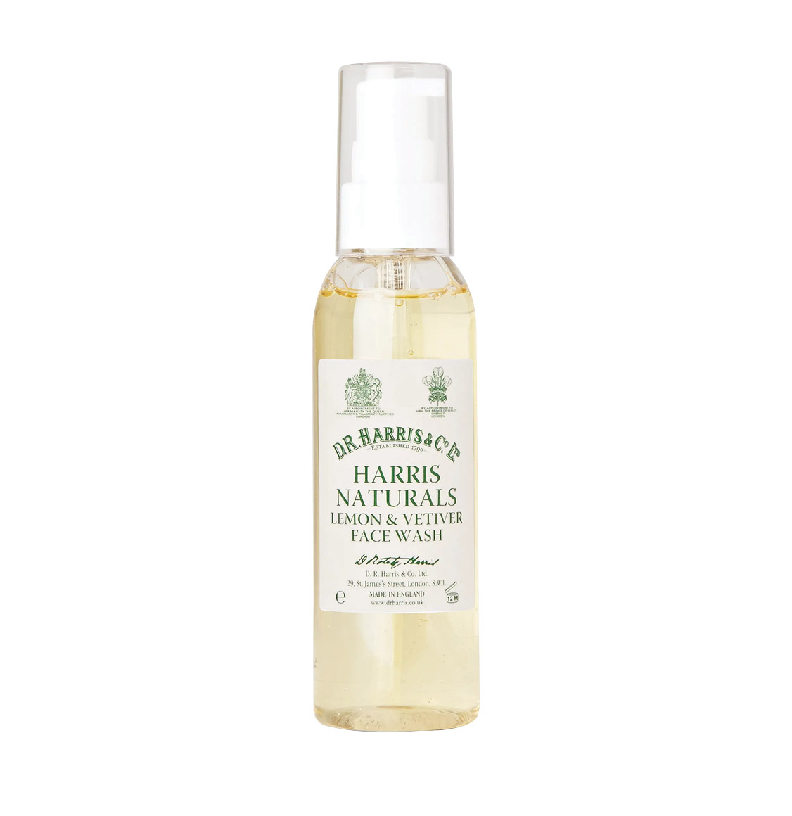 D R Harris Naturals Lemon and Vetiver Face Wash 100ml