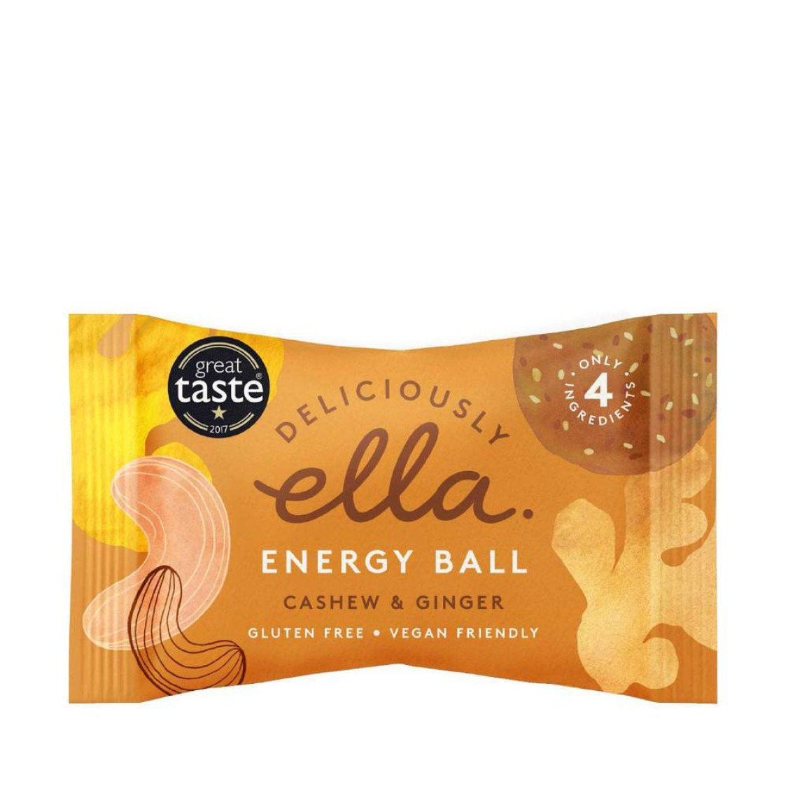 Deliciously Ella Cashew And Ginger Energy Ball 2 x 40g