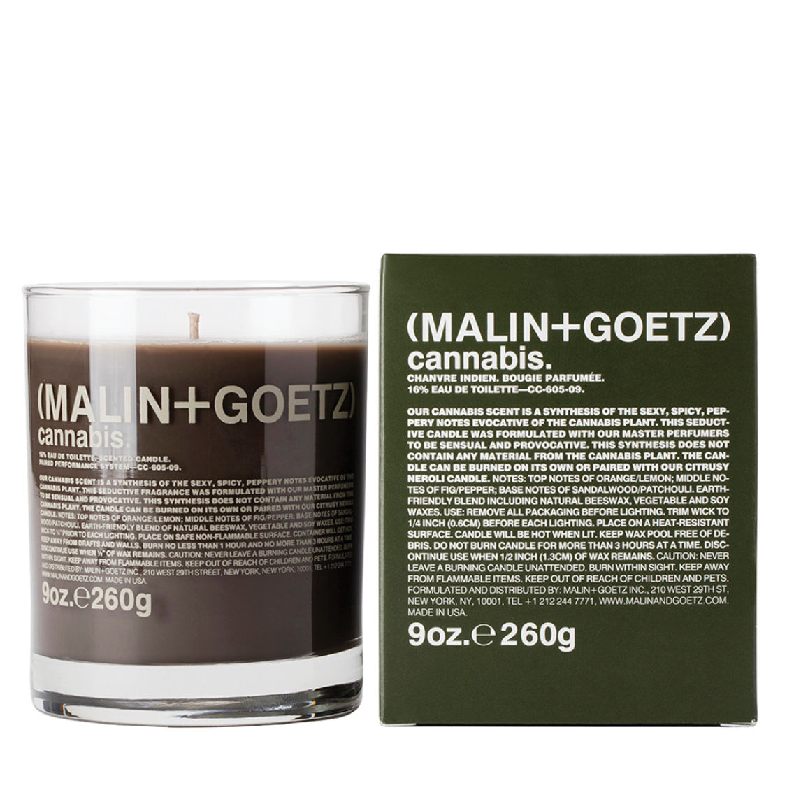 Malin And Goetz Cannabis Candle 260g