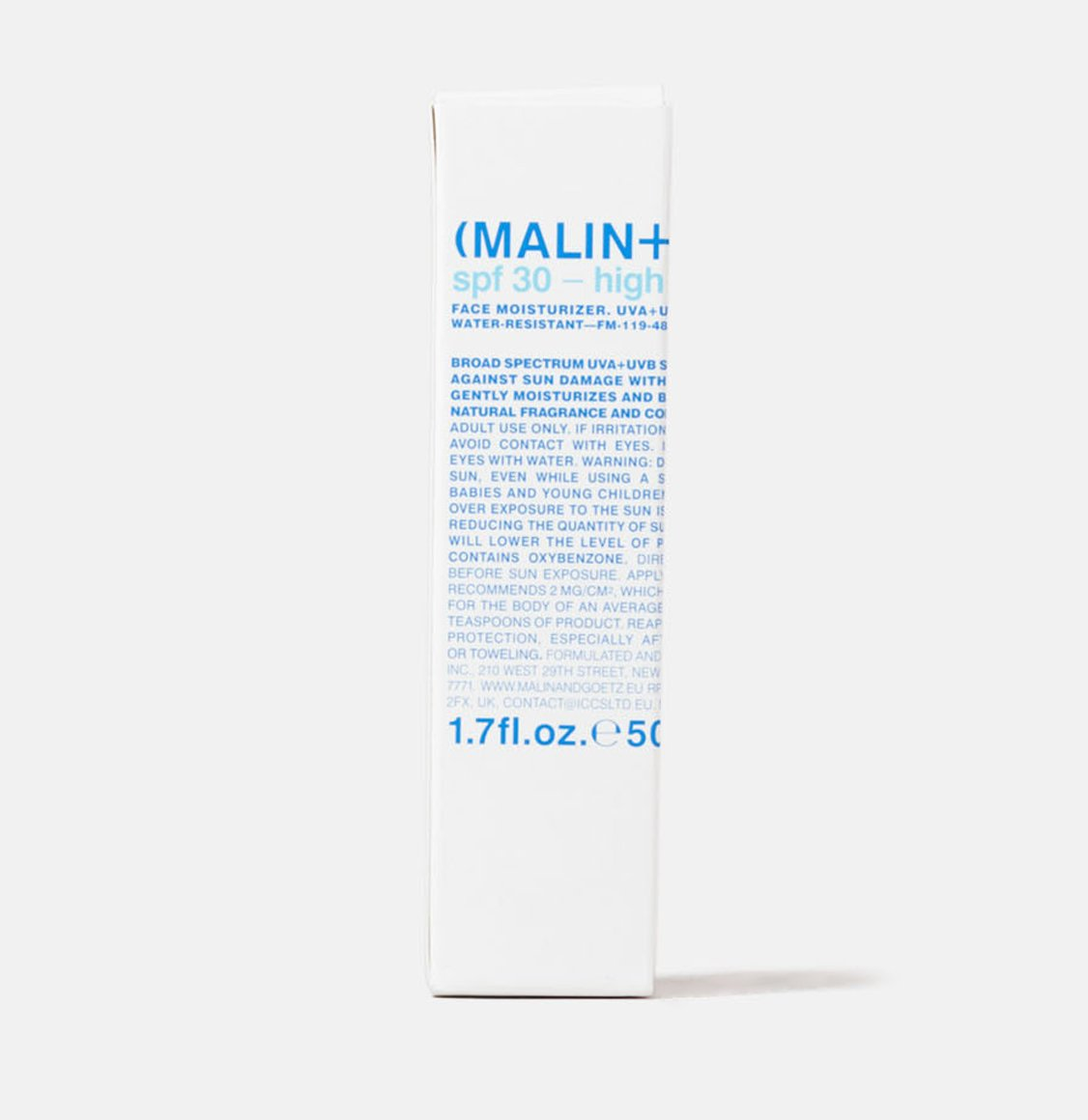 Malin And Goetz SPF 30 High Protection Face Moisturizer