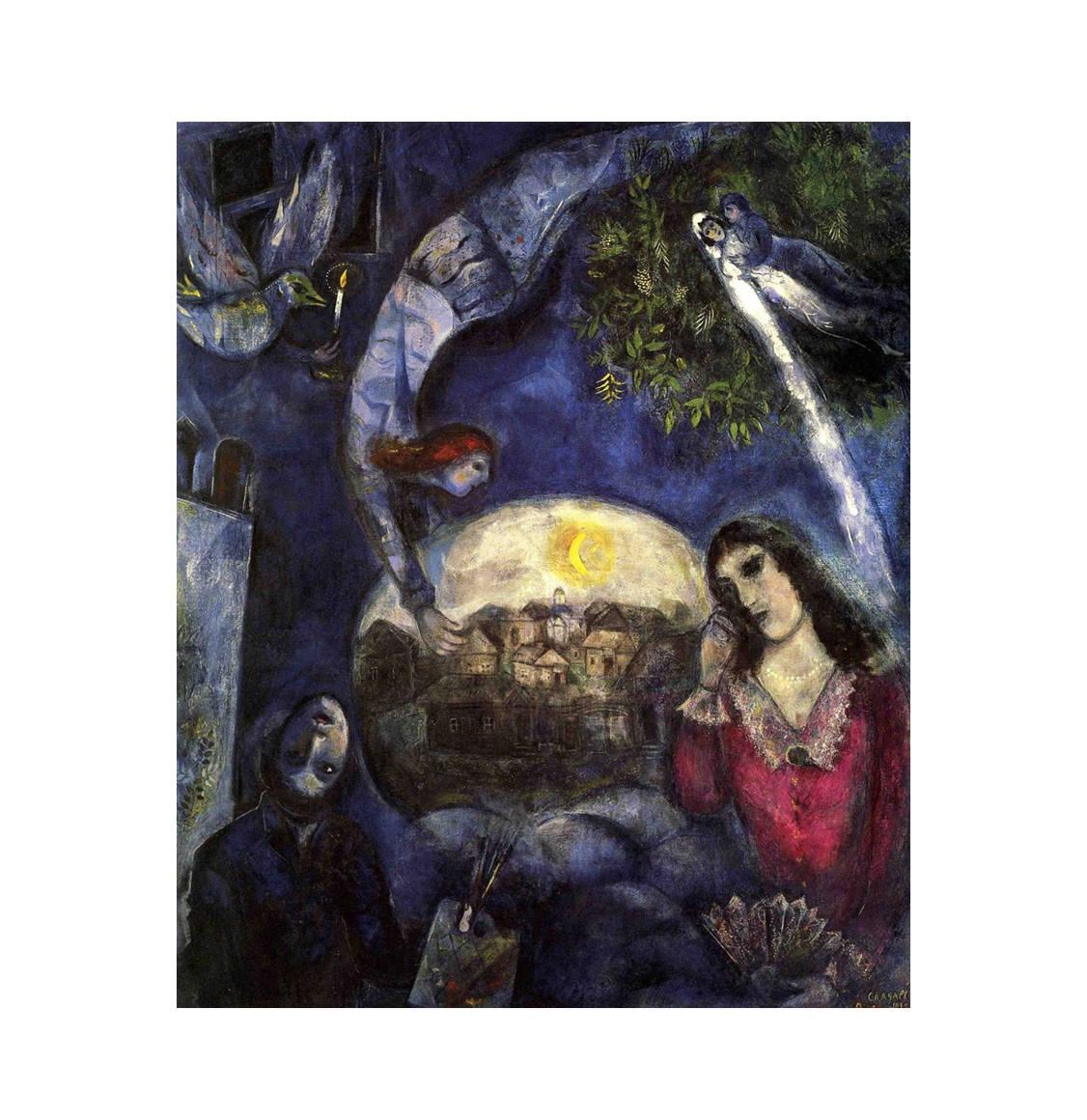 Ricordi Παζλ Marc Chagall Autour d'elle 1945 1500 Κομμάτια RICO5901N16199